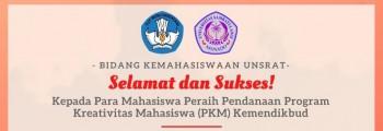 Selamat dan Sukses Kepada Para Mahasiswa Peraih Pendanaan Program Kreativitas Mahasiswa (PKM) Kemendikbud