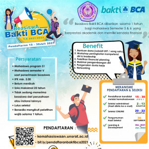 Informasi & Pendaftaran Beasiswa Bakti BCA – Universitas Sam Ratulangi